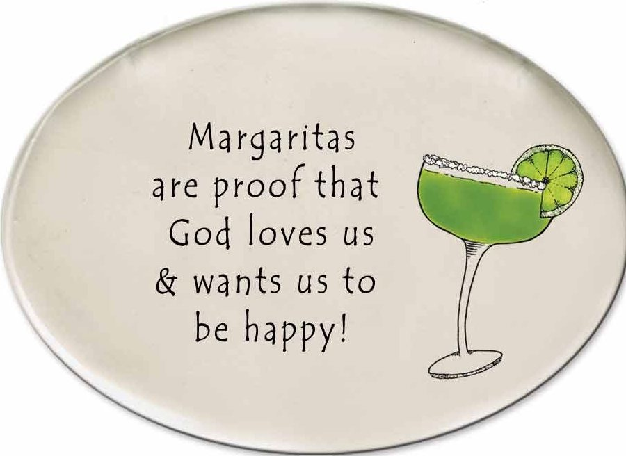 August Ceramics 3156A Margarita glass If life gives you limes Disk Magnet