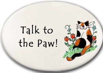 August Ceramics 3159O Cat Talk to the paw Disk Magnet