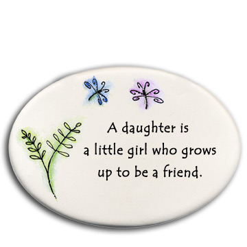 August Ceramics 3174A 3 Flowers If sisters were flowers Disk Magnet