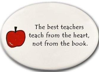 August Ceramics 3176A Apple The best teachers teach from Disk Magnet
