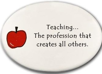 August Ceramics 3176B Apple Teaching the Profession that creates all Disk Magnet