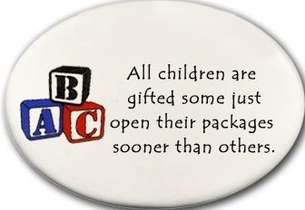 August Ceramics 3177A Blocks All children are gifted Disk Magnet