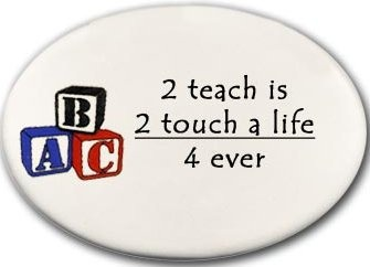 August Ceramics 3177B Blocks 2 teach is 2 touch a life 4 ever Disk Magnet