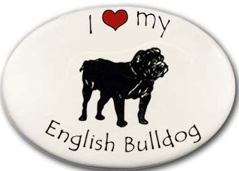 August Ceramics 32EB English Bulldog Magnet