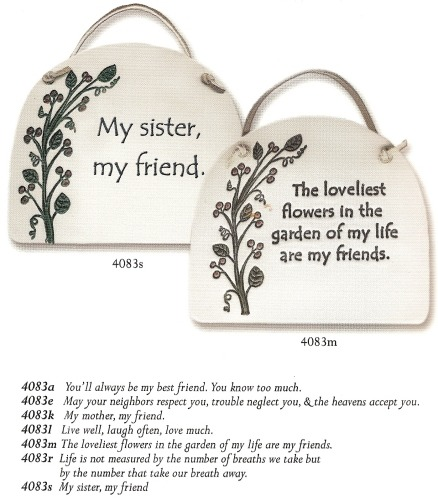 August Ceramics 4083A Verse - Click Photo Plaque