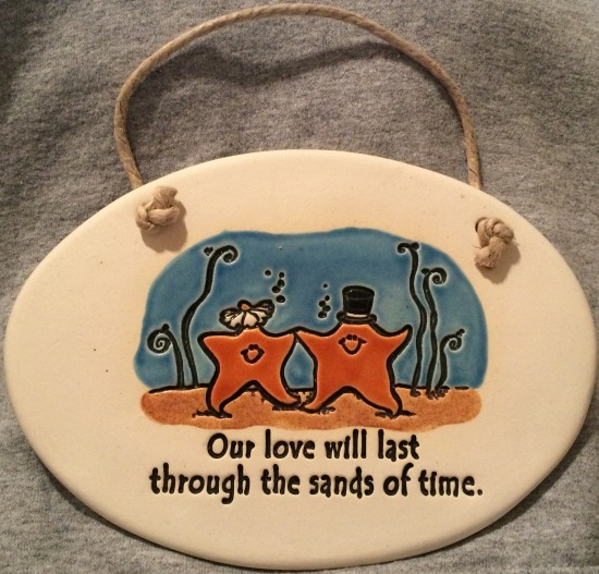 Special Sale 4085N August Ceramics 4085N Starfish Our love will last through the sands of time