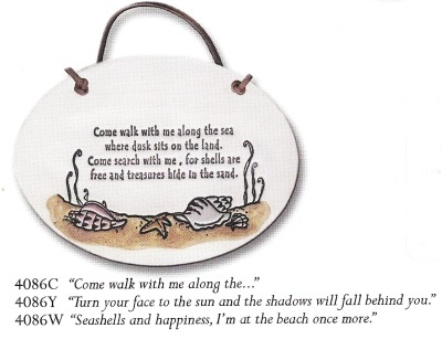 August Ceramics 4086W Verse - Click Photo Plaque