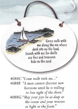 August Ceramics 4088C Verse - Click Photo Plaque