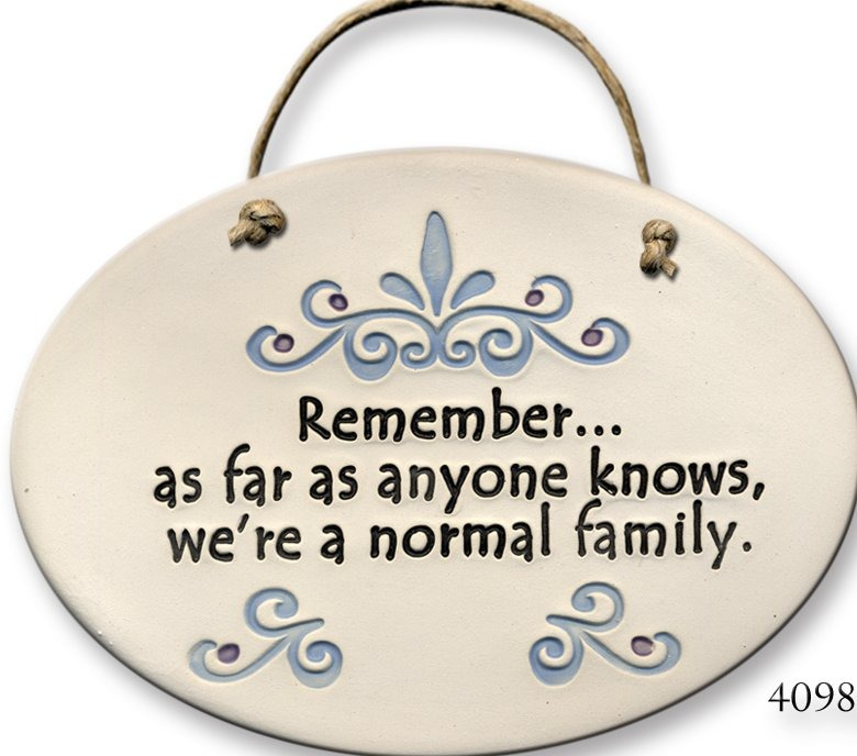 August Ceramics 4098C Scroll Remember as far as normal family Oval Plaque