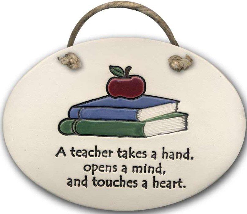 August Ceramics 4105E A Teacher Takes a Hand Plaque