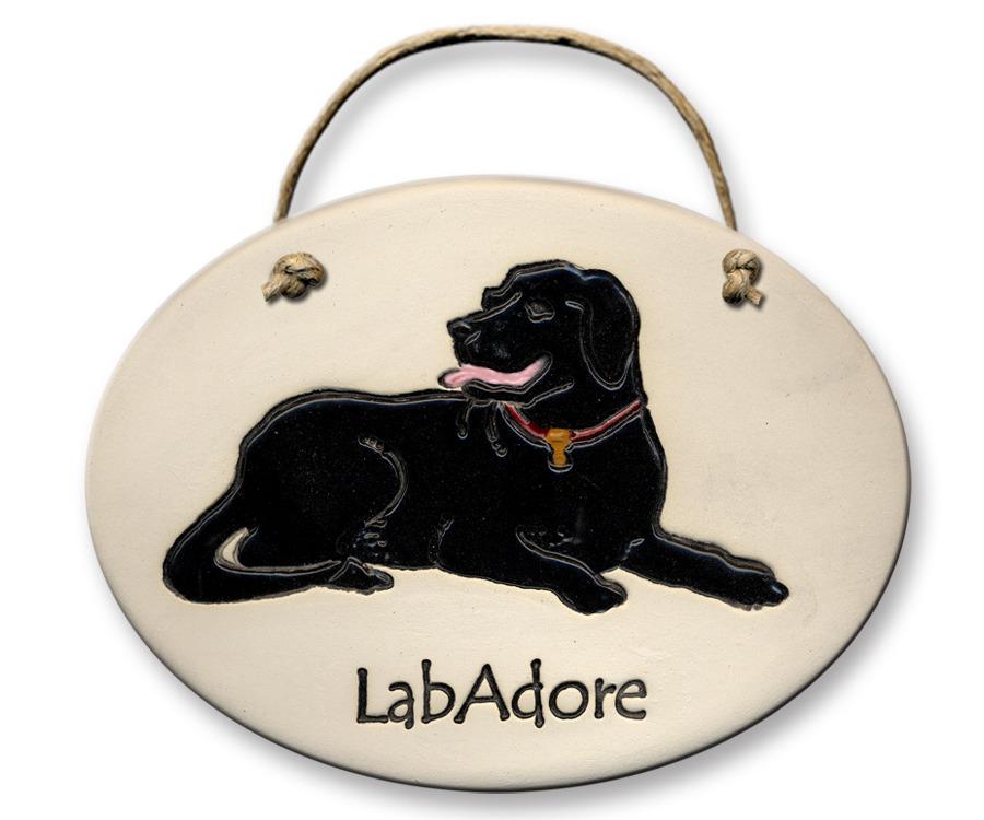 August Ceramics 4121A Labrador Retriever Verse Click Photo Plaque
