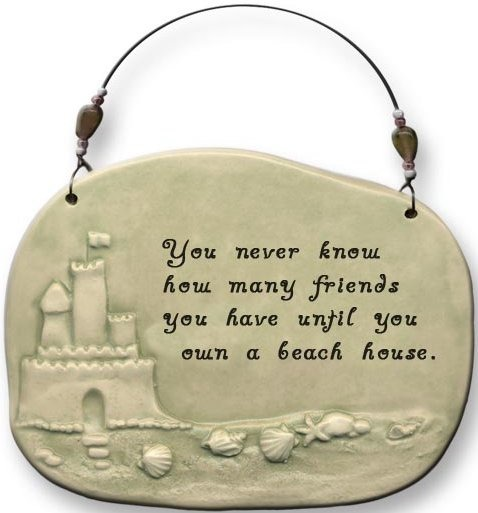 August Ceramics 4402E Sculpted Seashore Plaque You never know how many friends