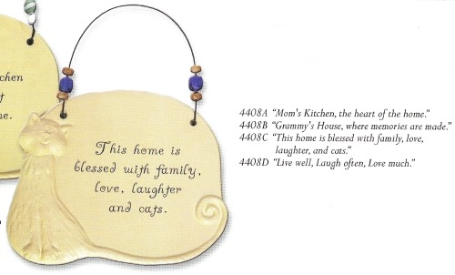 August Ceramics 4408B Verse - Click Photo Sculpted Wall Plaque