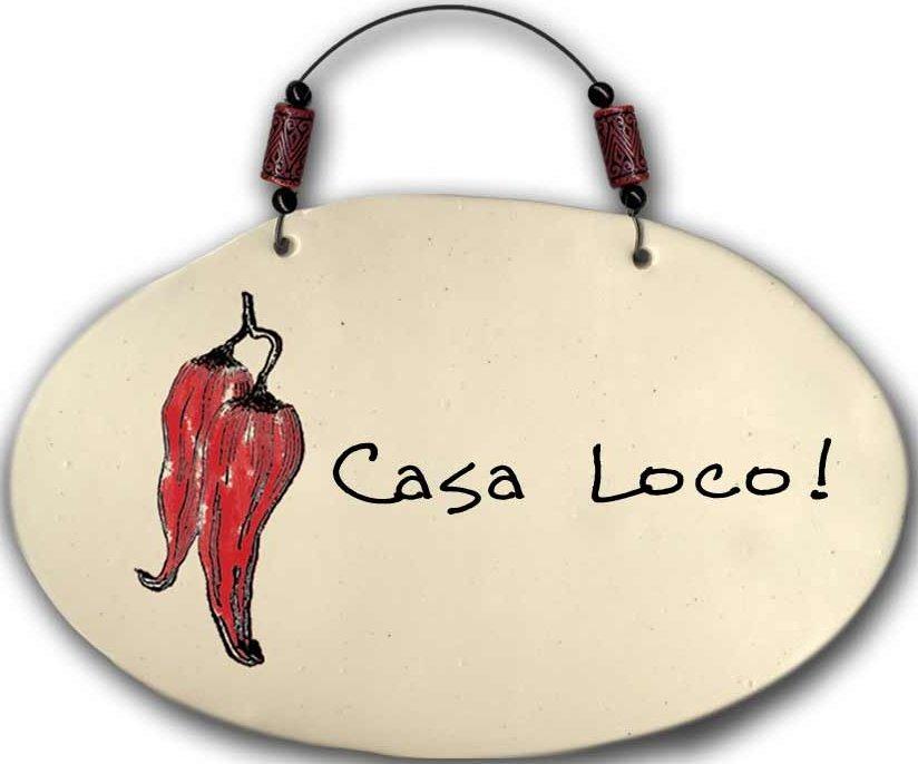 August Ceramics 4551E Chili Pepper - Casa Loco Beaded Plaque