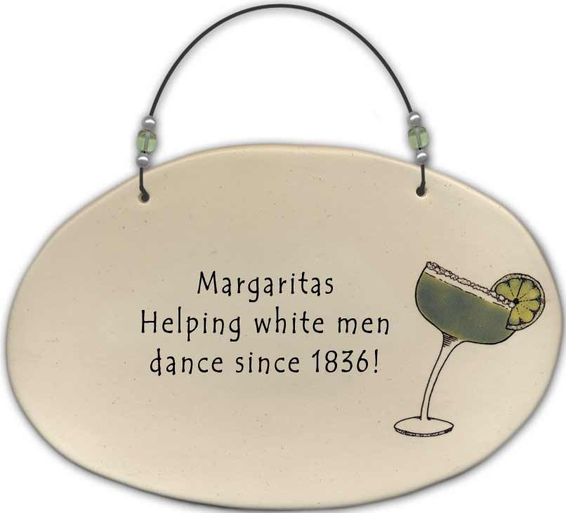 August Ceramics 4556E Margarita - Helping white men dance Beaded Plaque