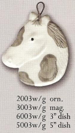 August Ceramics 5003WG White & Gray Soapdish
