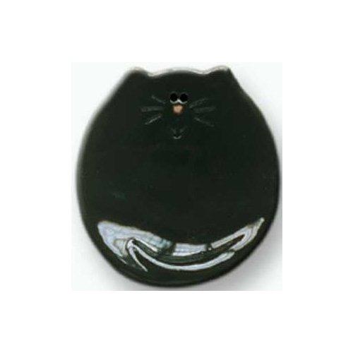 August Ceramics 5026B Black Soapdish
