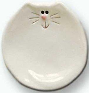 August Ceramics 5026W White Soapdish