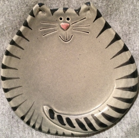 August Ceramics 5027G Tiger Gray Soapdish