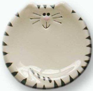August Ceramics 5027WB Tiger Black White Soapdish