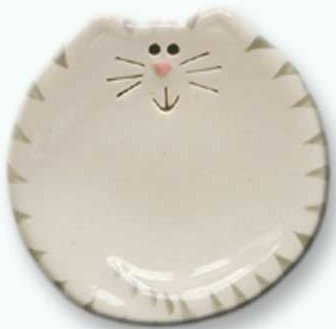 August Ceramics 5027WG Tiger Gray White Soapdish