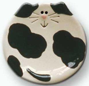 August Ceramics 5030B Spots Black Soapdish