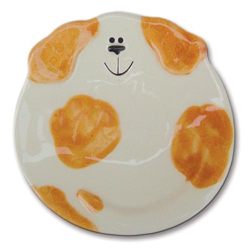 August Ceramics 5047WO Spots Orange White Soapdish