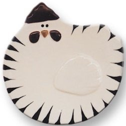 August Ceramics 5093W White Soapdish