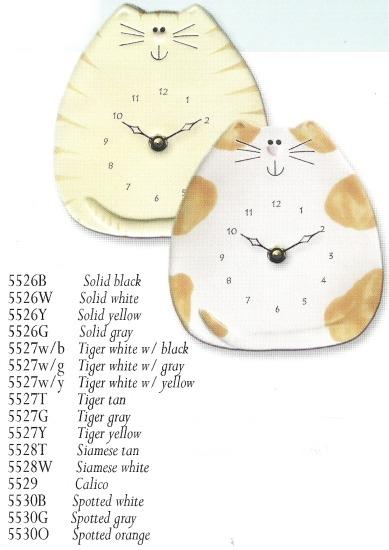 August Ceramics 5528T Tan Clock