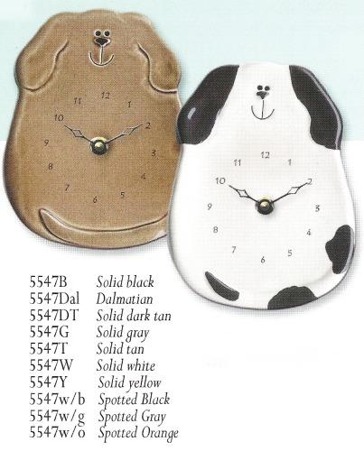 August Ceramics 5547WB Black spots Clock