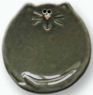 August Ceramics 6026G Gray Tea Bag Holder