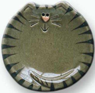August Ceramics 6027G Tiger Gray Tea Bag Holder
