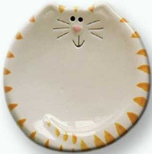 August Ceramics 6027WY Tiger Yellowith White Tea Bag Holder
