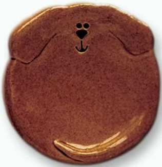 August Ceramics 6047DT Dark Tan Tea Bag Holder