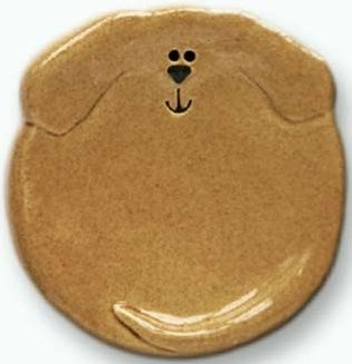 August Ceramics 6047T Tan Tea Bag Holder