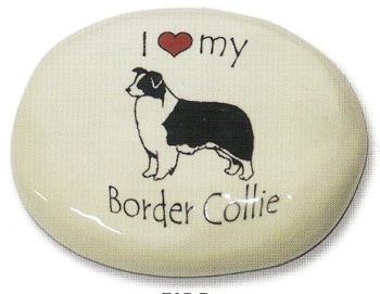 August Ceramics 70BC Border Collie Paperweight
