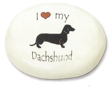 August Ceramics 70DA Dachshund Paperweight