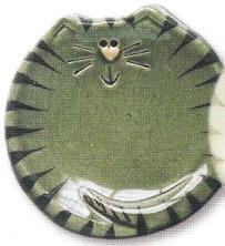 August Ceramics 7527G Tiger Gray Feeding Dishes