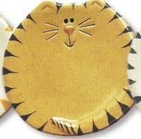August Ceramics 7527T Tiger Tan Feeding Dishes