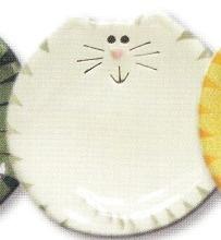 August Ceramics 7527WG Tiger Gray White Feeding Dishes