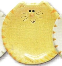 August Ceramics 7527Y Tiger Yellow Feeding Dishes
