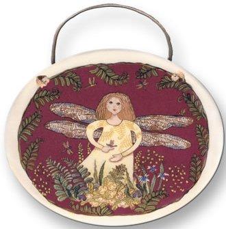 August Ceramics 8012 Fairy Plaque
