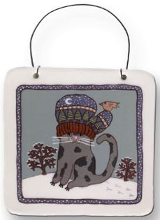 August Ceramics 8013 with Mitten Plaque