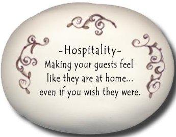 August Ceramics 8116J Peach scroll Hospitallity making guests Mini Rock