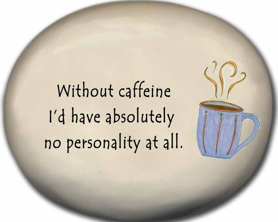 August Ceramics 8123C Coffee Cup Without caffeine no personality Mini Rock