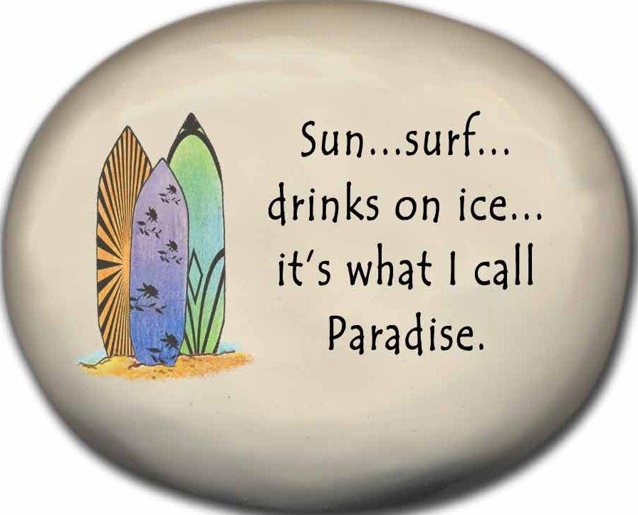August Ceramics 8127A Surfboards Sun Surf Drinks on ice paradise Mini Rock