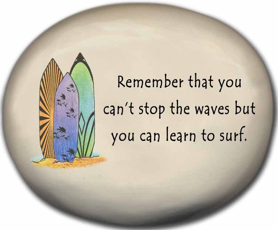 August Ceramics 8127C Surfboards Surf's Up Mini Rock