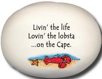 August Ceramics 8129D Lobster in Sea Livin the life lovin the lobsta on The Cape Mini Rock