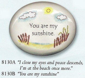 August Ceramics 8130A Verse - Click Photo Paperweight