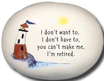 August Ceramics 8132C Lighthouse I Don't want to I Don't have to Mini Rock